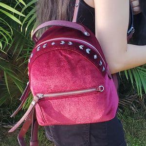 Sam Edelman Velvet Studded Mini Backpack NWT